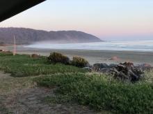 beach with mist