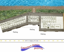 map of motel layout and rooms